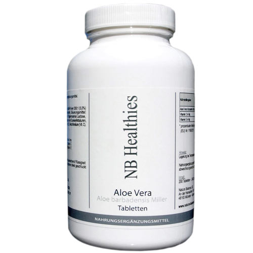 200 Kapseln Aloe Vera hochdosiert 200:1 Konzentrat 12.000mg á Tablette