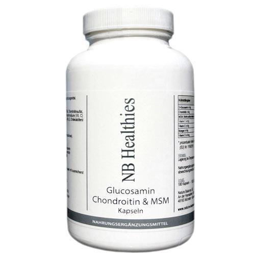180 Kapseln Glucosamin 400mg pro Kapsel Chondroitin 75mg MSM 50mg hochdosiert