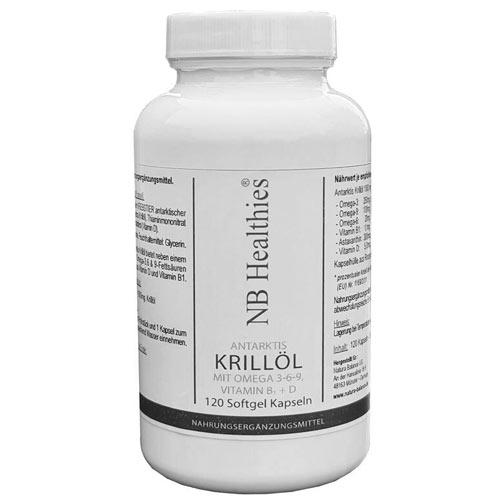 120 Kapseln Krillöl hochdosiert Antarktis Omega 3 6 9 Krill Öl Vitamin B1 D