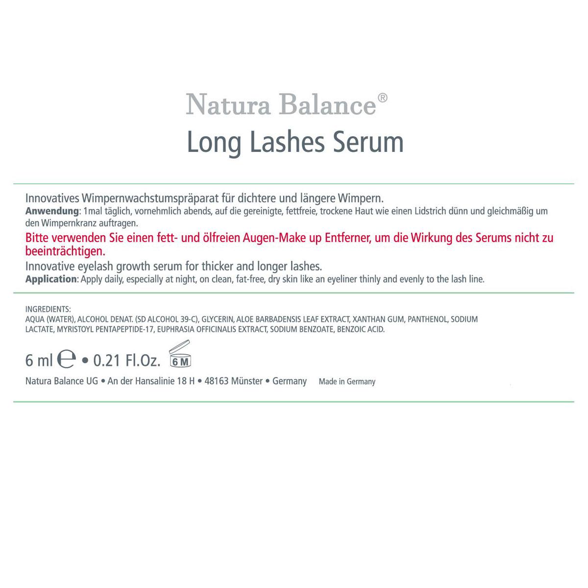 ca2a19b4d78 6ml Wimpernserum Long Lashes HORMONFREI Power Serum Wimpern Lash Wachstum