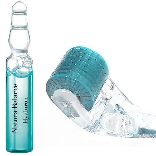 SET Micro Needling Roller + 15 x Hyaluron Ampullen á 2ml Hyaluronsäure Falten